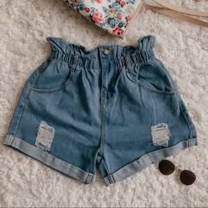 Pants - High Waisted Denim Jeans